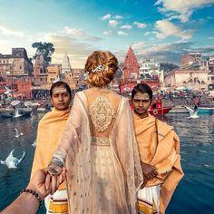 Nataly Osmann clicked at ghat of Varanasi in India