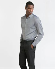 New Collection Online Denim Button Up, Button Up Shirts, Formal Shirts For Men, Fashion Catalogue, Chef Jackets, Latest Trends, Zara, Mens Tops