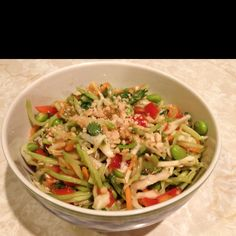 Spicy Peanut Asian Salad