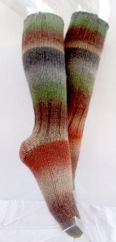 Women Wool Long Socks. Winter Warm Socks. Pure Sheep by NavaVK