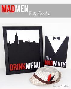 Mad Men DIY Party Decor | popperandmimi.com