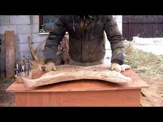 (9) Table made of wood and metal rods. Стол из дерева и металлических прутьев. - YouTube