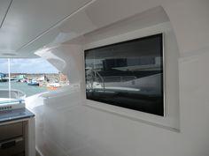 Videotree Outdoor TV installed in Sunseeker Princess AVK Yacht in Deck Bar Area
