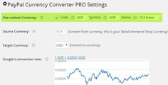 PAYPAL CURRENCY CONVERTER PRO FOR WOOCOMMERCE . Convert any currency to allowed PayPal currencies for PayPal's Payment Gateway within