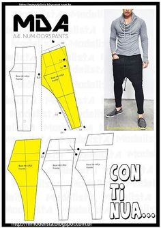 for any pants pattern?how to saweing women trousers ile ilgili görsel sonucuMod@ en Line recipes, home ideas, style inspiration and other ideas to try. Diy Clothing, Clothing Patterns, Sewing Patterns, Apparel Clothing, Fashion Sewing, Diy Fashion, Mens Fashion, Baggy Pants, Jogger Pants