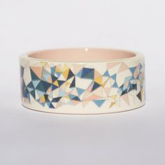 Flying Spikes Printed Porcelain Bangle. ~ Erin Lightfoot