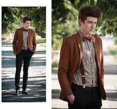 Doctor Who inspired(by Zoltán Szilágyi) Estilo Nerd, Doctor Who, Boy Fashion, Mens Fashion, Indie Fashion, Blazer Outfits Men, Zara Trousers, Vintage Man, Looking Dapper