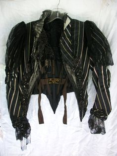 Antique Victorian Boned Jacket  Glass Beaded  by BohemianStarlet
