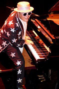 Elton John in White Sunglasses