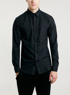 Small - Selected Homme Black Long Sleeve Shirt