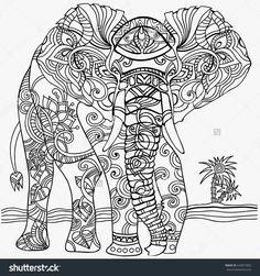the 134 best coloring elephants images on pinterest elephant