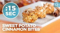 WATCH: Quest Cinnamon Sweet Potato Bites #15SecondRecipe. #CheatClean