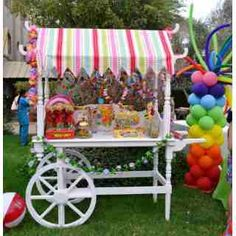 Candy cart for Sweet Sixteenth Candy Table, Candy Buffet, Dessert Table, Candy Cart Hire, Sweet Carts, Flower Cart, Rainbow Theme, Candy Shop, Candyland