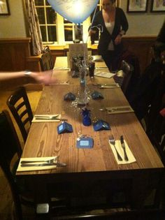 Table settings, blue theme