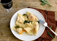 Butternut Squash Ravioli with Sage Browned Butter