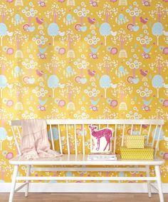 All Children's Wallpapers Bedroom Furniture For Sale, Childrens Bedroom Furniture, Kids Bedroom, Easy Up, Yellow Wall Decor, Scandinavian Kids Rooms, Kids Wallpaper, Decorating Blogs, Basic Colors