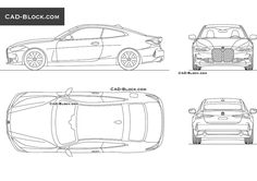 BMW 4 Series Coupe CAD Block Bmw Models, Cad Blocks, Grill Design, New Bmw, Cad Drawing, Software, Vehicles, Car, Kitchen