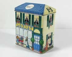 Vintage Tin Building Box Florist Shop Tinsmith's by MysticLily
