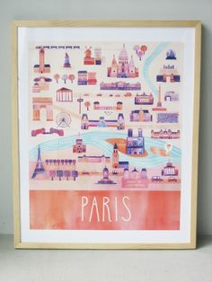 Illustrated Paris Map