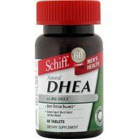 SCHIFF/BIO FOODS DHEA 60 ct by Schiff. Save 2 Off!. $6.09. Dehydroepiandrosterone (DHEA) is produced naturally by the adrenal glands. DHEA functions as a buffer to help counteract effects of environmental stress. Unfortunately, as we get older, our body's production of DHEA declines significantly. DHEA supplements may support normal DHEA levels. Unconditionally guaranteed for purity, freshness and labeled potency. Scored tablet splits easily for half doses.