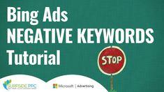 Bing Ads Negative Keywords Lists Tutorial - Microsoft Advertising Negati... Microsoft Advertising, Digital Marketing Channels, Google Ads, Inbound Marketing, Search Engine, Videos
