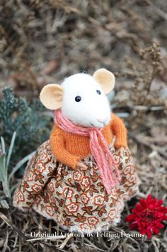 Sweet Mouse Autumn  Felting Dreams by feltingdreams on Etsy