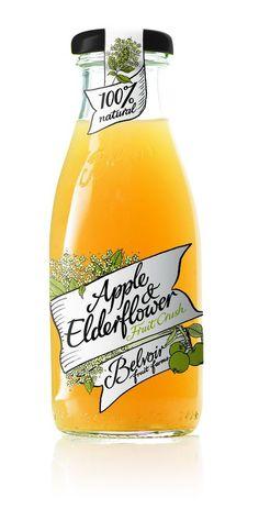 Apple & Elderflower Juice Bottle Packaging Design