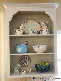 Tutorial: Turning Cabinets into Custom Shelves   The Kim Six Fix