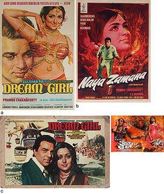 #Dharmendra and Hema Malini Hits    #StoryLTD.com #Bollywood's stellar #couples lot contains off-set show card and synopsis #DreamGirl (1977) #NayaZamana (1971) #TheBurningTrain (1980) only Rs.1450 #bid #today