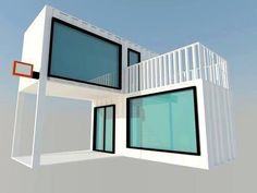 container, container architecture, Container House - Modern Design Shipping Container Bar Restaurant in . Who Else Wants Simple Step-By-Step Plans To Design And Build A Container Home From Scratch? Shipping Container Buildings, Shipping Container Homes, Shipping Containers, Container Shop, Container House Design, 40ft Container, Building A Container Home, Container House Plans, Prefab Homes
