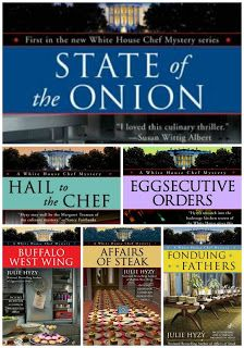 "Julie Hyzy's White House Chef mystery series are some of the best ""cozy mysteries"" around. Love her writing style."