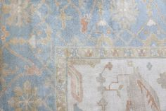Exquisite Rugs Oushak Hand Knotted 9329 Ivory - Blue | Rug Studio