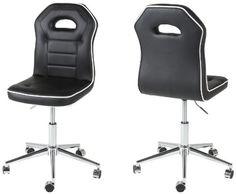 http://ift.tt/1NGLWBX AC Design Furniture 48549 Bürostuhl Aubame Kunstleder schwarz Kedernaht weiß @cheapiike%#