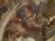 WILLETTE Adolphe,1884 - Parce Domine - Detail 073 : Français : Deux jeunes femmes  English: - Two young women - Montmartre -