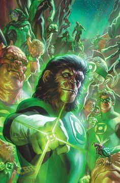 Green Lantern/Planet of the Apes #1 by Felipe Massafera *