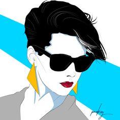 Distance. #artdeco #synthpop #retrowave #techno #fashion #popart #1980s #patricknagel