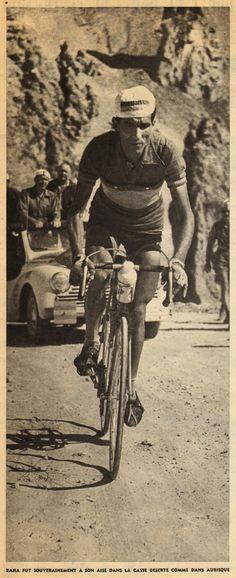 Tour de France 1958. 20^Tappa, 15 luglio. Gap > Briançon. Col d'Izoard. Federico Martin Bahamontes (1928) [But et CLUB]