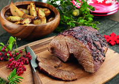 Pork is the main dish on the Cretan Christmas table Christmas Events, Xmas Food, Greek Recipes, Xmas Recipes, Sliders, Main Dishes, Steak, Recipies, Stuffed Mushrooms