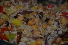 Easy Chickpea, Vegetables And Rice - Low Cost Vegetarian Supper