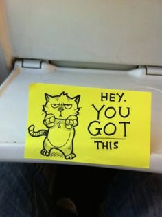 These Motivational Sticky Notes Have Brightened Up a Commuter's Day