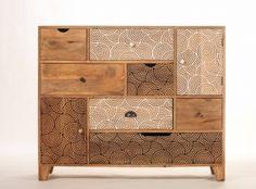 Design convenient wood 7 drawer 2 door