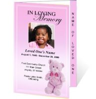Child Funeral Program Template Memorial Program By Templatestock. X Pillar  Candles Signature Custom Memorial Pillar Photo Candle