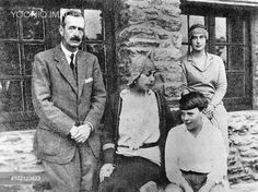 Victoria Melita ('Ducky'), formerly Princess Victoria Melita of Edinburgh and Saxe-Coburg (1876-1936) pictured with her second husband, Grand Prince Kirill, son Vladimir and younger daughter Kira at St Briac in Britanny in 1928. Victoria Melita's first marriage to her cousin, Duke Ernst Ludwig of Hesse-Darmstadt ended in mutual unhappiness seven years later. Her decision to divorce Ernst Ludwig and marry Kirill shocked the family on both sides. The couple escaped Russia because Kirill took…