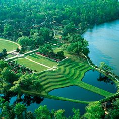 Middleton Place..... Southern belles dreaming of a Gone with the Wind-style wedding amid live oaks draped with Spanish moss need look no further than this legendary 65-acre property on the Ashley River. While you'll have your pick of 11 different wedding sites, we suggest a ceremony on the grass terraces overlooking the Butterfly Lakes (pictured), followed by dinner in the elegant Main Pavilion; middletonplace.org