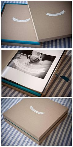 Primo book made by the Italian photographer Debora Manca. The combination of the materials and the colors are amazing, kakhi matte linen is combined with tourquise maple the result is stunning. #primobook #graphistudio #weddingbook