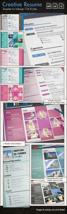 The Resume Resume cv, Creative resume templates and Creative - illustrator resume templates