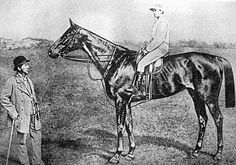 """""""March 1874 - The racehorse Kincsem was born. The Hungarian mare was one of the best racehorses ever, as she raced for four seasons and was victorious in all fifty-four races in which she ran. Somewhere In Time, Sport Of Kings, Racehorse, Three Year Olds, Photo Reference, Thoroughbred, Roman Empire, Horse Racing, Hungary"""