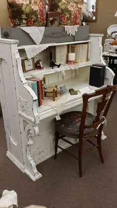 ...repurposed elderly piano!!