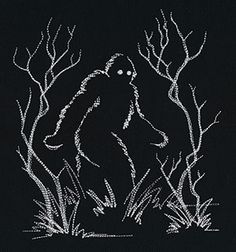 This Sasquatch hides on your fabric. So fun! Thanks to Urban Threads for posting it.