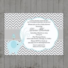 Baby Shower Little Elephant Printable Invitations Baby Shower Host, Baby Showers, Free Printable Invitations, Baby Shower Invitations, Babies R, Little Elephant, Baby Carriage, Lets Celebrate, Having A Baby
